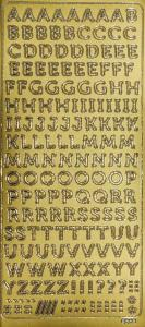 Peel off stickers letters Gold