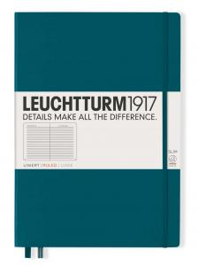 Leuchtturm1917 Leuchtturm Notebook A4 Slim Hard 121s Pacific Green linjerad - Kalenderkungen.se