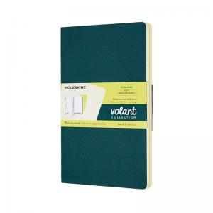 Moleskine Moleskine Volant Journal Plain Large Pine Green/Lemon Yellow - Kalenderkungen.se