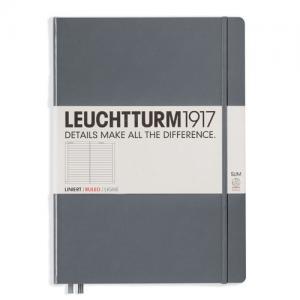 Leuchtturm1917 Leuchtturm Notebook A4 Slim Hard 121s anthracite linjerad - Kalenderkungen.se