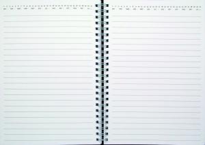 Spiralblock A6 svart kartong (till Lilla noteskalendern)