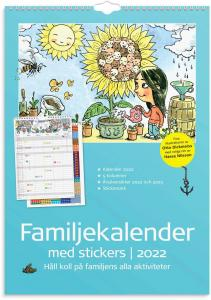 Familjekalender med stickers 2022