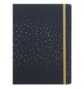 Filofax Notebook A5 Confetti Charcoal