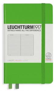 Leuchtturm1917 Leuchtturm A6 hard 185s Fresh Green linjerad - Kalenderkungen.se
