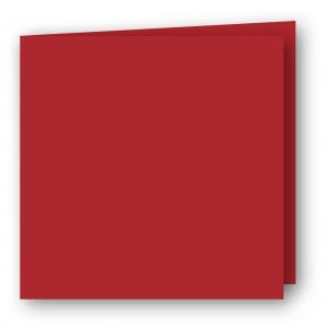 Kvadratiska Kort dubbla 5-pack 220g Röd