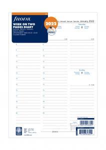 Filofax Dagbok vecka/uppslag 2022