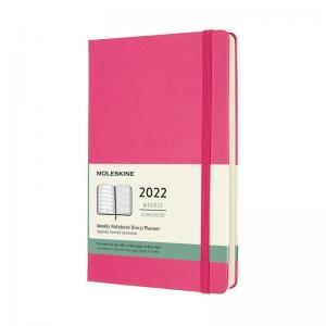 Moleskine Weekly Notebook Pink hard Large 2022
