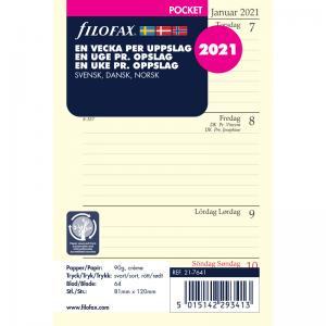 Filofax dagbok Pocket 2021 V/U
