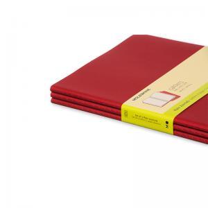 Moleskine anteckningsbok olinjerad XL röd