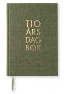 10-årsdagbok - Khaki Green