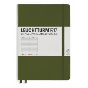 Leuchtturm1917 Leuchtturm Notebook A5 hard 249s Army linjerad - Kalenderkungen.se
