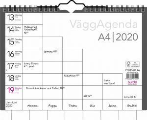 Burde Förlag Väggagenda 2020 A4 - Kalenderkungen.se