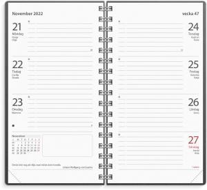 Fickkalender Master svart miljökartong 2022
