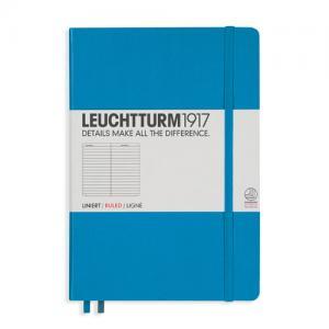 Leuchtturm1917 Leuchtturm Notebook A5 hard 249s Azure linjerad - Kalenderkungen.se