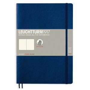 Leuchtturm1917 Leuchtturm Notebook B5 Soft 121s Navy Olinjerad - Kalenderkungen.se