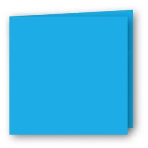 Kvadratiska Kort dubbla 5-pack 220g Azurblå