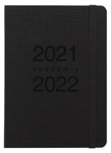 Kalender Letts Memo A6 svart studieåret 2021-2022
