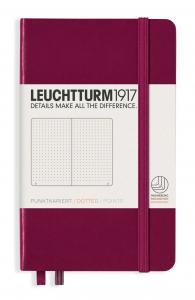 Leuchtturm1917 Leuchtturm A6 hard 185s Port Red dotted - Kalenderkungen.se