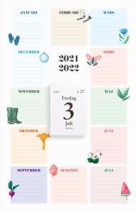 Väggkalender klassens almanacka 2021-2022