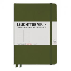 Leuchtturm1917 Leuchtturm Notebook A5 hard 249s Army dotted - Kalenderkungen.se