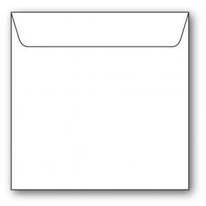 Kvadratiska Kuvert 5-pack 110g Vit