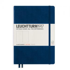 Leuchtturm1917 Leuchtturm Notebook A5 hard 249s Navy dotted - Kalenderkungen.se