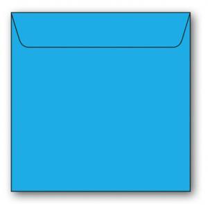 Kvadratiska Kuvert 5-pack 110g Azurblå