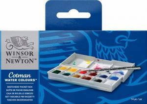 Akvarellset Cotman sketchers pocket box 12 ½
