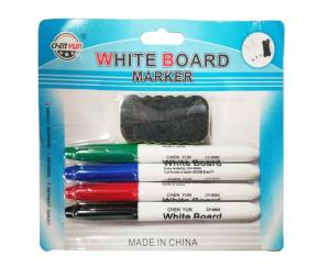 4-pack whiteboardpennor med rader
