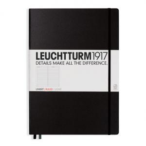 Leuchtturm1917 Leuchtturm Notebook A4+ hard Svart linjerad - Kalenderkungen.se
