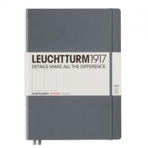Leuchtturm1917 Leuchtturm Notebook A4 Slim Hard 121s Anthracite dotted - Kalenderkungen.se