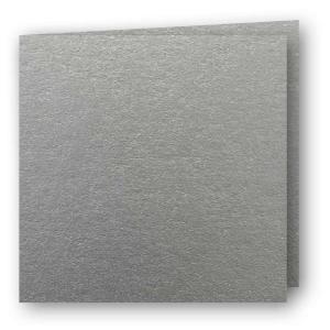 Papperix Kvadratiska Kort dubbla 5-pack 220g Silver - Kalenderkungen.se
