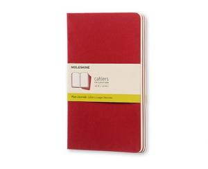 Moleskine Cahier Journal Large Plain - Röd