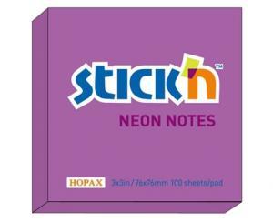 Notesblock 76x76 Lila neon