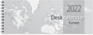 Desk Calendar Europe 2022