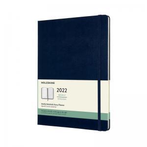 Moleskine Weekly Notebook Blue hard XL 2022