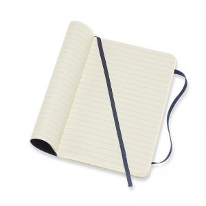 Moleskine Moleskine Notebook Pocket Soft Cover - Blå - Linjerad - Kalenderkungen.se