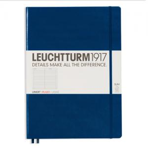 Leuchtturm1917 Leuchtturm Notebook A4 Slim Hard 121s Navy linjerad - Kalenderkungen.se
