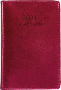 Lilla Fickdagboken rött konstläder 2021