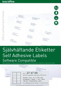 B.N.T Kop/Laseretiketter 99,1 x 67,7 mm - Kalenderkungen.se