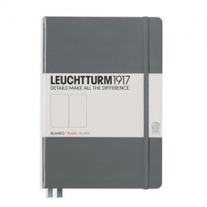 Leuchtturm1917 Leuchtturm Notebook A5 hard 249s Anthracite olinjerad - Kalenderkungen.se