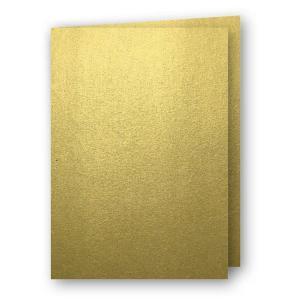 Papperix A5 Kort dubbla 5-pack 220g Guld - Kalenderkungen.se