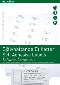 B.N.T Kop/Laseretiketter 199,6x 289,1 mm - Kalenderkungen.se