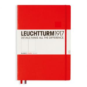 Leuchtturm1917 Leuchtturm Notebook A4+ hard Röd olinjerad - Kalenderkungen.se