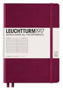 Leuchtturm1917 Leuchtturm Notebook A5 hard 249s Port Red linjerad - Kalenderkungen.se