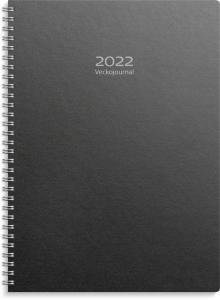 Veckojournal 2022 svart miljökartong