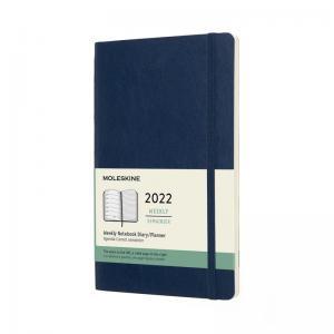 Moleskine Weekly notebook Large Blue Soft 2022