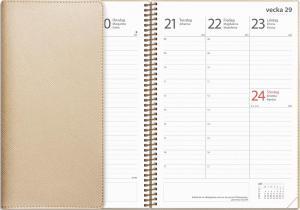 Kalender Twist Study A5 beige 2021-2022