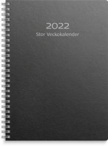 Stor Veckokalender svart miljökartong 2022