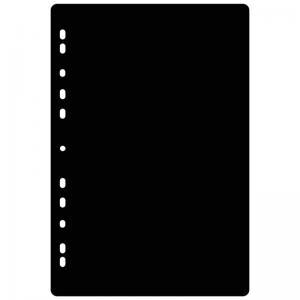 B.N.T Fotoblad A4 225x297 Svart 25-pack - Kalenderkungen.se